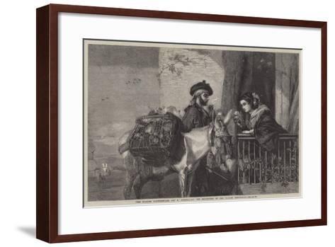 "The Spanish Flowerseller-Matthew ""matt"" Somerville Morgan-Framed Art Print"