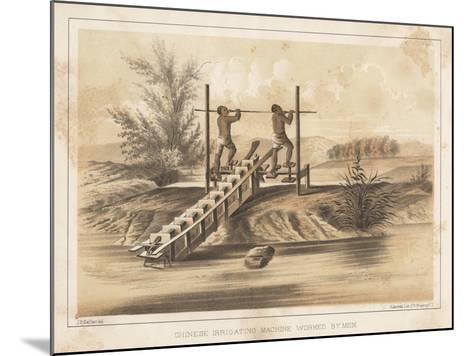 Chinese Irrigating Machine Worked by Men, 1855- Meffert-Mounted Giclee Print
