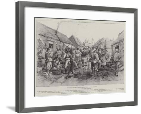 The Germans in China, Scene in the Main Street, Tsingtau, Kiao-Chau-Melton Prior-Framed Art Print