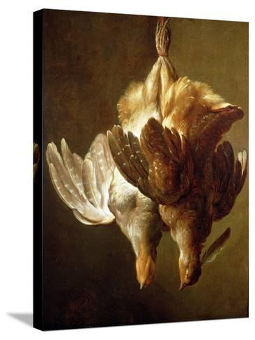 Still Life of Two Partridges-Matthew Bloem-Stretched Canvas Print