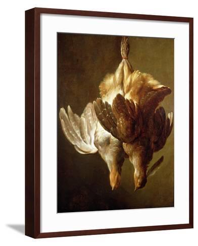 Still Life of Two Partridges-Matthew Bloem-Framed Art Print