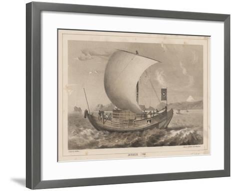 Japanese Junk, 1855- Meffert-Framed Art Print