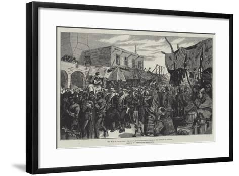 The War in the Soudan, the Naval Brigade Marching Through the Bazaar at Souakim-Melton Prior-Framed Art Print