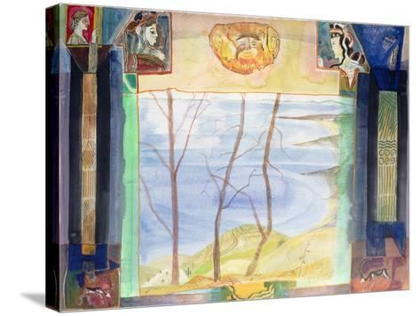 Agamemnon's Country - a Mani Viewpoint from the Greek Experience Series-Michael Chase-Stretched Canvas Print