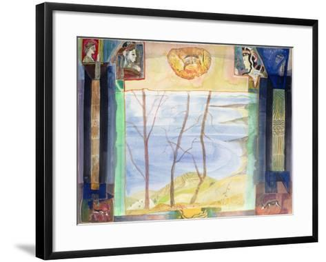 Agamemnon's Country - a Mani Viewpoint from the Greek Experience Series-Michael Chase-Framed Art Print