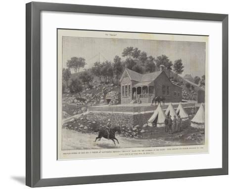 Headquarters of General Sir G White at Ladysmith, Showing Dug-Out Made for the General by His Staff-Melton Prior-Framed Art Print