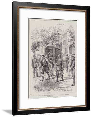 The Turkish Crisis, Armenian Prisoners Arriving for Trial at the Courts of Justice, Constantinople-Melton Prior-Framed Art Print