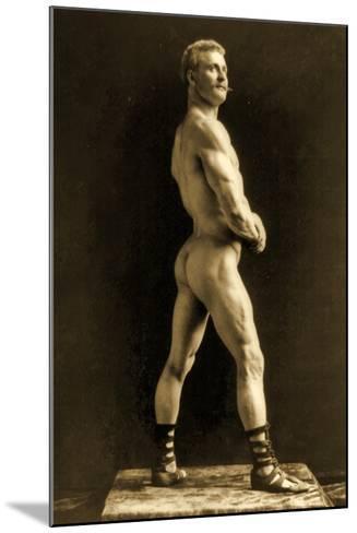 Eugen Sandow, in Classical Ancient Greco-Roman Pose, C.1893-Napoleon Sarony-Mounted Photographic Print