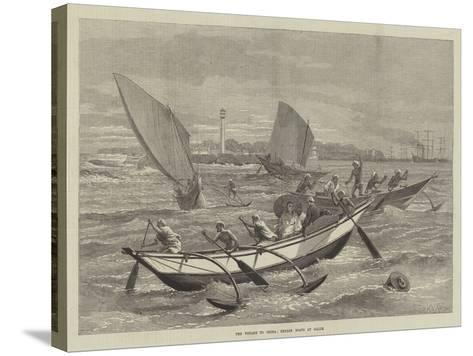 The Voyage to China, Ceylon Boats at Galle-Matthew White Ridley-Stretched Canvas Print
