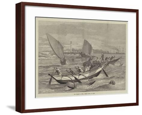 The Voyage to China, Ceylon Boats at Galle-Matthew White Ridley-Framed Art Print