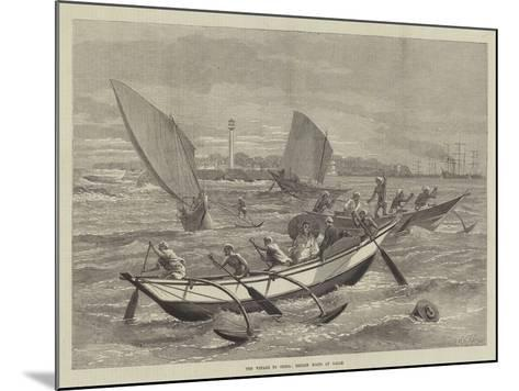 The Voyage to China, Ceylon Boats at Galle-Matthew White Ridley-Mounted Giclee Print