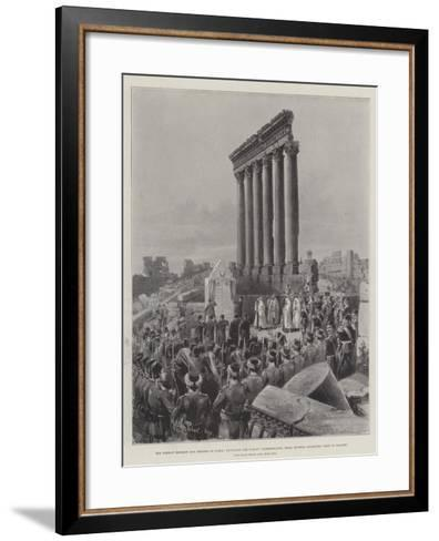 The German Emperor and Empress in Syria-Melton Prior-Framed Art Print