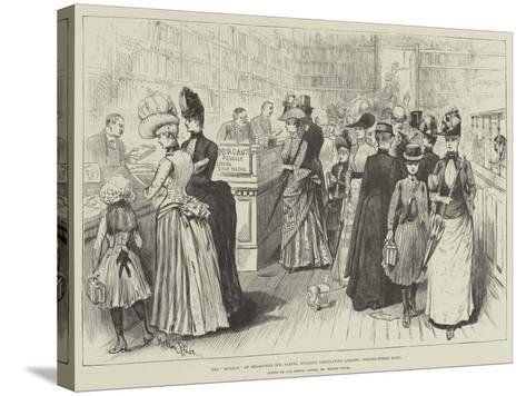 The Mudie'S of Melbourne, Mr Samuel Mullen's Circulating Library, Collins-Street East-Melton Prior-Stretched Canvas Print