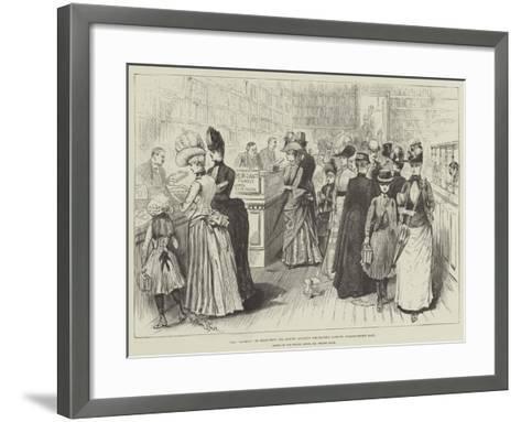 The Mudie'S of Melbourne, Mr Samuel Mullen's Circulating Library, Collins-Street East-Melton Prior-Framed Art Print
