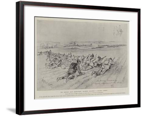 The German Army Manoeuvres, Infantry Resisting a Cavalry Charge-Melton Prior-Framed Art Print