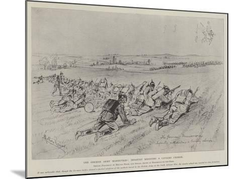 The German Army Manoeuvres, Infantry Resisting a Cavalry Charge-Melton Prior-Mounted Giclee Print