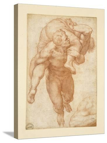 Group from the Last Judgement-Michelangelo Buonarroti-Stretched Canvas Print