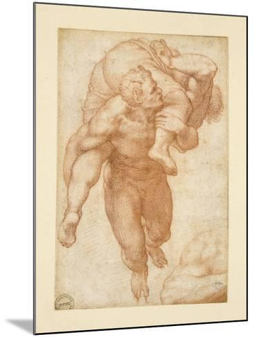 Group from the Last Judgement-Michelangelo Buonarroti-Mounted Giclee Print