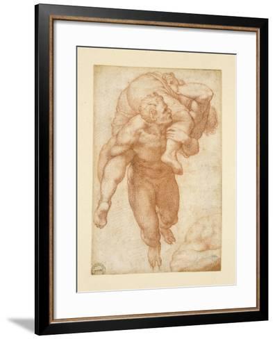 Group from the Last Judgement-Michelangelo Buonarroti-Framed Art Print