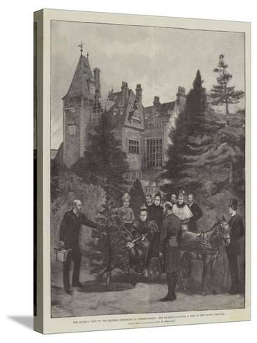 The Queen's Visit to the Empress Frederick at Friedrichshof-Melton Prior-Stretched Canvas Print