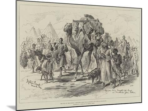 The War in the Soudan, Refugees from Tokar Brought into Camp at Trinkitat-Melton Prior-Mounted Giclee Print