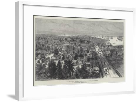 Across Two Oceans, Georgetown, Demerara, Sketched from the Lighthouse-Melton Prior-Framed Art Print