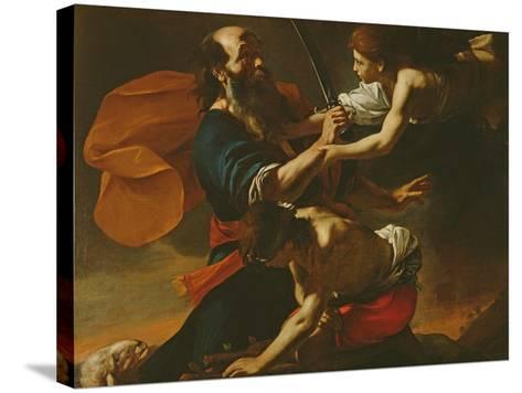 The Sacrifice of Isaac, 1613-Mattia Preti-Stretched Canvas Print