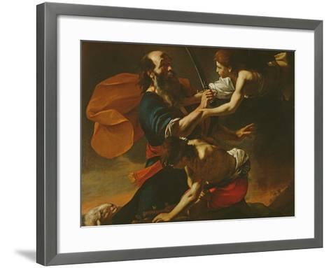 The Sacrifice of Isaac, 1613-Mattia Preti-Framed Art Print