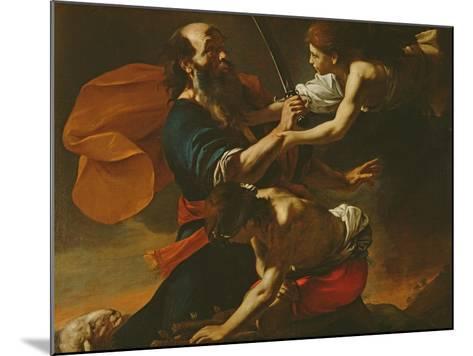 The Sacrifice of Isaac, 1613-Mattia Preti-Mounted Giclee Print