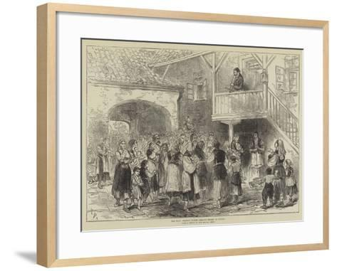 The War, Bosnian Women Seeking Relief at Usicza-Melton Prior-Framed Art Print