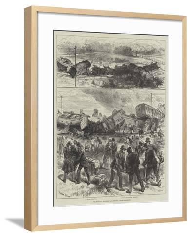 The Railway Accident at Downton, Near Salisbury-Melton Prior-Framed Art Print