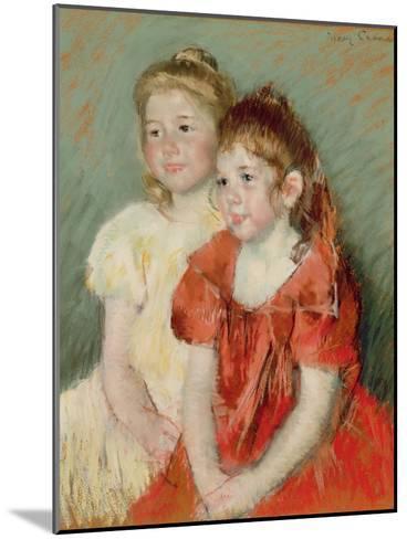 Young Girls, C.1900-Mary Cassatt-Mounted Giclee Print