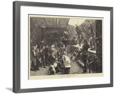 A Wild Indian Show-Paul Friedrich Meyerheim-Framed Art Print