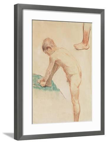 Study of a Boy and a Foot, 1888-Paul Gauguin-Framed Art Print