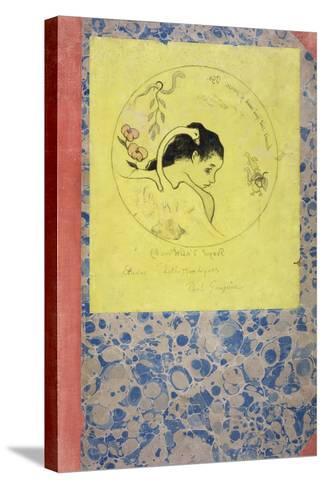 Design for a Plate - Leda, 1889-Paul Gauguin-Stretched Canvas Print