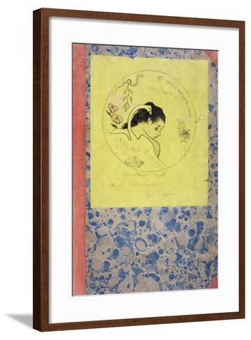 Design for a Plate - Leda, 1889-Paul Gauguin-Framed Art Print