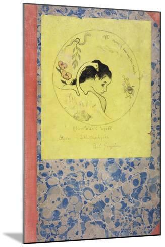Design for a Plate - Leda, 1889-Paul Gauguin-Mounted Giclee Print