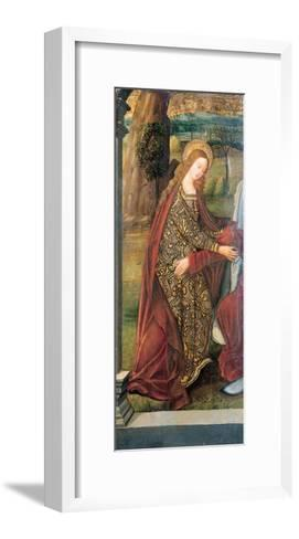 The Visitation - a Wing of an Altarpiece, a Fragment (Oil on Gold Ground Panel)-Pedro Berruguete-Framed Art Print
