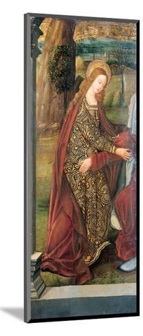 The Visitation - a Wing of an Altarpiece, a Fragment (Oil on Gold Ground Panel)-Pedro Berruguete-Mounted Giclee Print