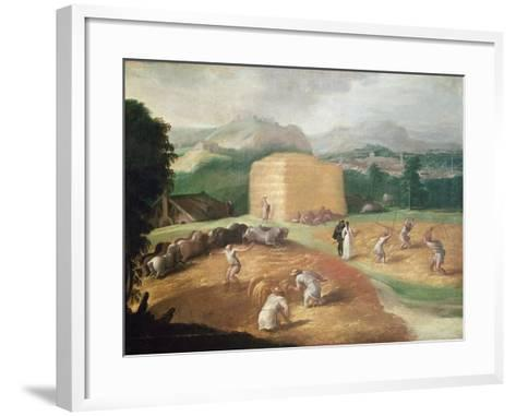 Landscape with Corn Threshers-Niccolo dell' Abate-Framed Art Print