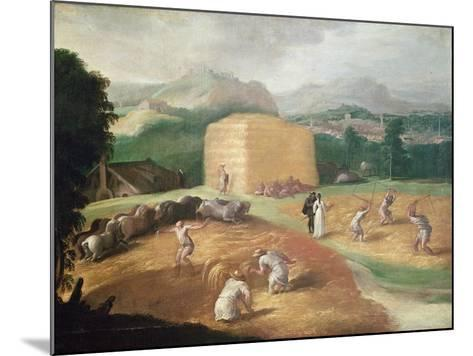 Landscape with Corn Threshers-Niccolo dell' Abate-Mounted Giclee Print