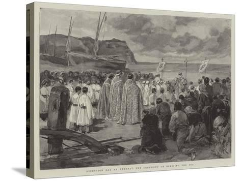Ascension Day at Etretat, the Ceremony of Blessing the Sea-Oswaldo Tofani-Stretched Canvas Print
