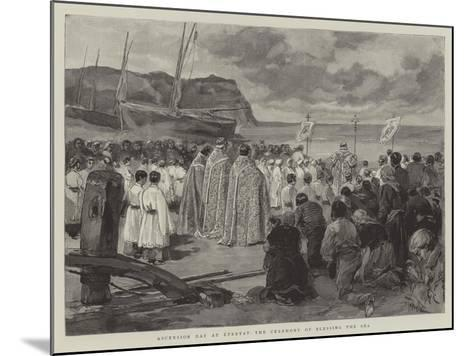 Ascension Day at Etretat, the Ceremony of Blessing the Sea-Oswaldo Tofani-Mounted Giclee Print