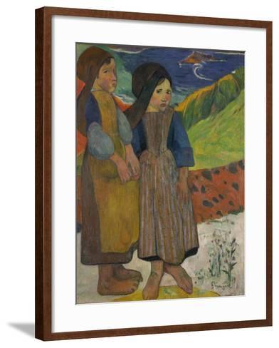 Little Breton Girls by the Sea, 1889-Paul Gauguin-Framed Art Print
