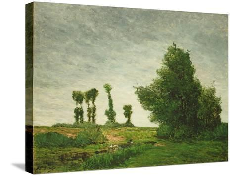 Landscape with Poplars, 1875-Paul Gauguin-Stretched Canvas Print