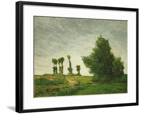 Landscape with Poplars, 1875-Paul Gauguin-Framed Art Print