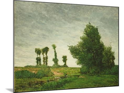 Landscape with Poplars, 1875-Paul Gauguin-Mounted Giclee Print