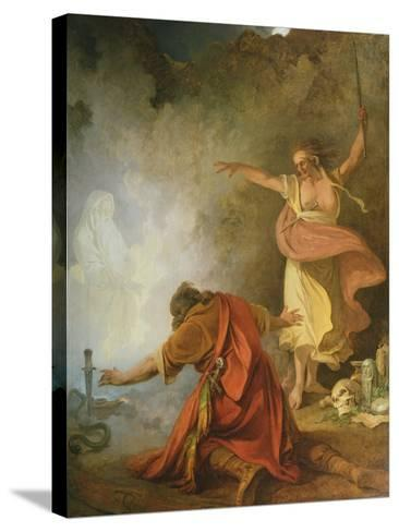 Saul and the Witch of Endor, 1791-Philip James De Loutherbourg-Stretched Canvas Print