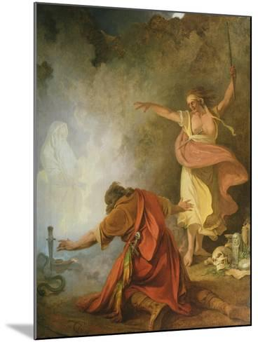 Saul and the Witch of Endor, 1791-Philip James De Loutherbourg-Mounted Giclee Print