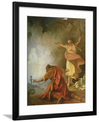 Saul and the Witch of Endor, 1791-Philip James De Loutherbourg-Framed Art Print
